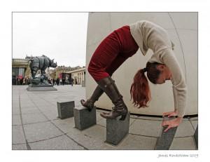 Emma exercice de contorsion